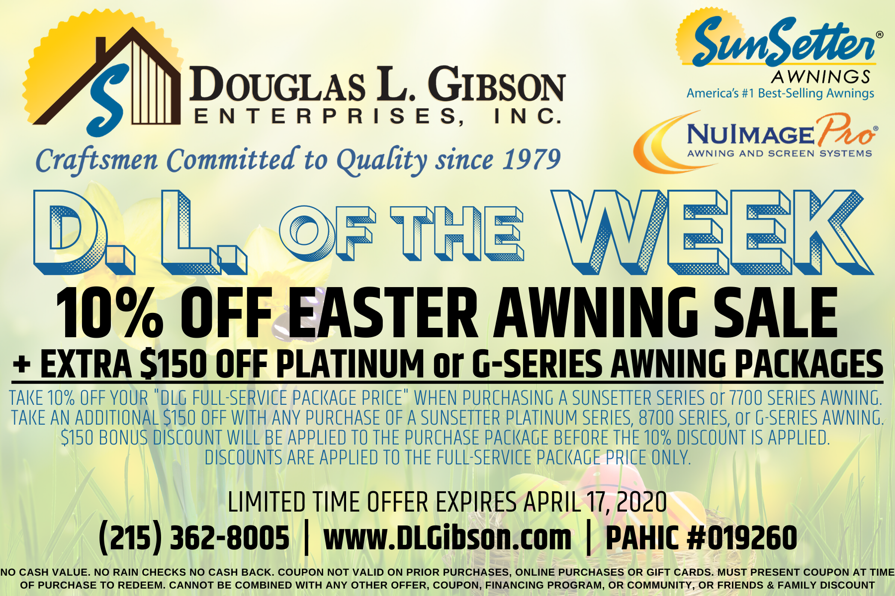 D. L. of the WEEK COUPON - SPECIAL OFFER from DOUGLAS L. GIBSON ENTERPRISES INC.