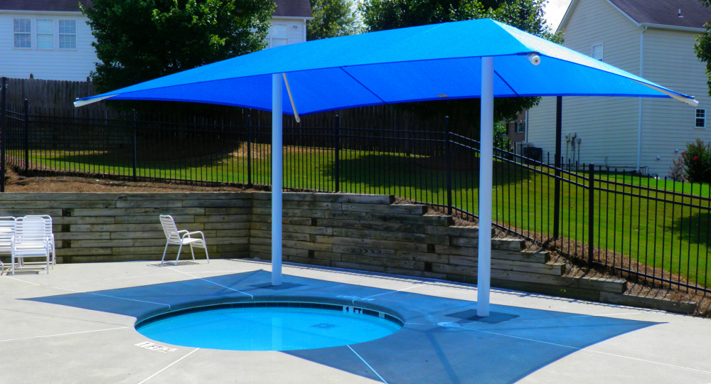 Spa Side Double Post Umbrella